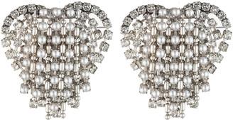 Dannijo Cecily Heart Earrings, Pearly