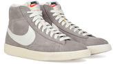 Nike Grey/White Suede Blazer Mid Premium Sneakers