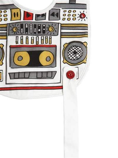 Dolce & Gabbana Printed Cotton Jersey & Terrycloth Bib