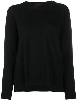 Roberto Collina Side Slit Long-Sleeved Sweater