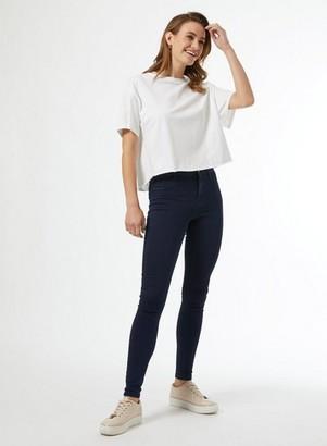 Dorothy Perkins Womens Blue Black Frankie Denim Jeans With Organic Cotton, Blue