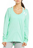 Under Armour Favorite Long Sleeve Wordmark Back Tee