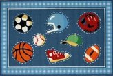 "Fun Rugs Go Team Kids Rug - Size 39"" x 58"""