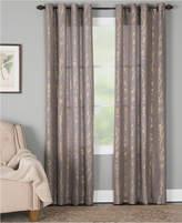 "Miller Curtains Dana 50"" x 84"" Botanical Metallic-Print Window Panel"