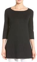 Eileen Fisher Women's Bateau Neck Organic Linen Tunic