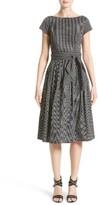 Michael Kors Women's Windowpane Stretch Cotton Poplin Dress