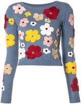 Alice + Olivia Alice+Olivia floral embroidery jumper