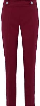 Versace Button-detailed Wool-blend Straight-leg Pants