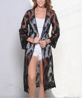 Paparazzi Black Sheer Lace Duster