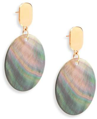 Nest Statement Grey Mother-Of-Pearl Drop Earrings