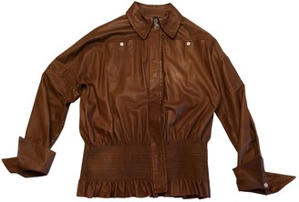 Gianfranco Ferre Camel Leather Leather Jacket for Women Vintage