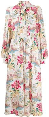 Peter Pilotto column flower dress