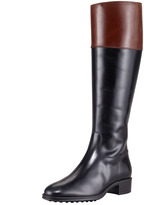 Tod's Two-Tone Leather Riding Boot