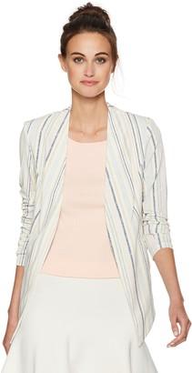 BCBGeneration Women's Stripe Tuxedo Blazer with Welts