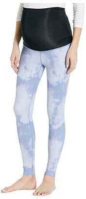 Beyond Yoga Maternity Olympus High Waisted Midi Leggings (Serene Blue Smoke) Women's Casual Pants