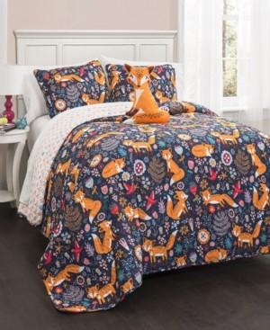 Lush Decor Pixie Fox 3-Pc Set Twin Quilt Set