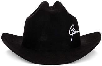 Versace Text Cowboy Hat in Black | FWRD