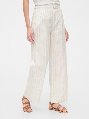 Gap High Rise Wide-Leg Pants in Linen
