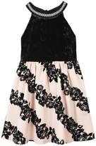 Speechless Girls 7-16 & Plus Size Flocked Rose Skirt Dress