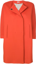 Alberto Biani collarless short-sleeve coat