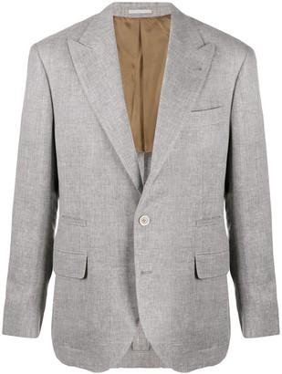 Brunello Cucinelli Fitted Single-Breasted Blazer