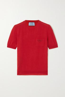 Prada Printed Wool Sweater - Red
