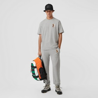 Burberry Contrast ogo Graphic Cotton Trackpants