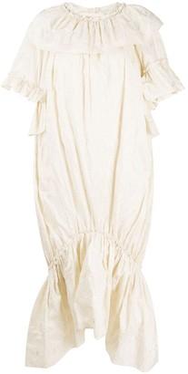 Simone Rocha Ruffle Trim Studded Dress