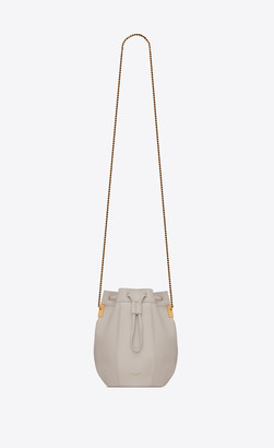 Saint Laurent Bucket Bag Talitha Small Bucket Bag In Smooth Leather Blanc Vintage Onesize