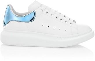 Alexander McQueen Men's Oversized Leather Platform Sneakers