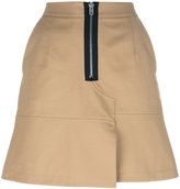 Alexander Wang mini skirt with zip - women - Cotton/Polyester - 6