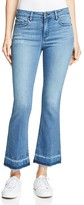 HIDDEN Crop Flare Jeans in Medium Blue