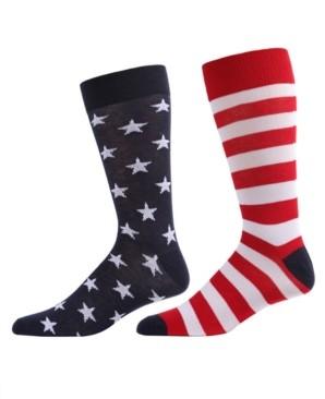 Me Moi MeMoi Stars and Stripes Women's Crew Socks