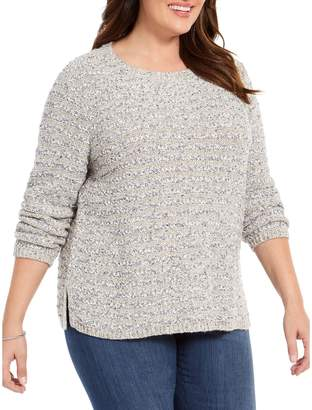 Style&Co. Style & Co. Plus Metallic-Threaded Chenille Sweater