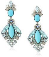 "Sorrelli Teal Textile"" Baroque Statement Drop Earrings"