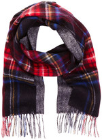 Amicale Wool Double Face Plaid Scarf