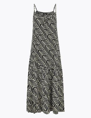 Marks and Spencer Printed Midi Slip Dress