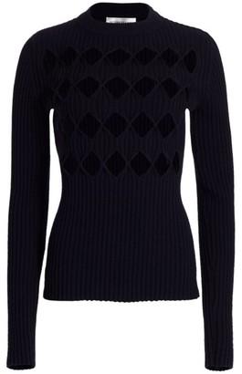 Victoria Beckham Argyle-Cutout Sweater
