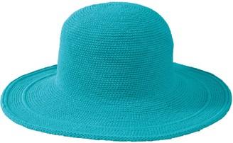 San Diego Hat Co. Cotton Crochet Hat with LargeBrim