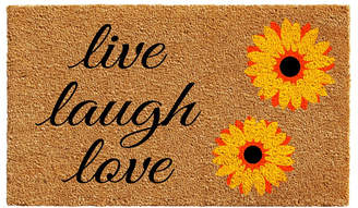 "Sunflower Live Laugh Love 17"" x 29"" Coir/Vinyl Doormat Bedding"