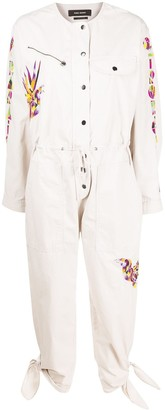 Isabel Marant Embroidered Cropped Jumpsuit