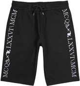 Mcq Alexander Mcqueen Black Embroidered Cotton Shorts