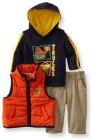 Kids Headquarters Baby-Boys Infant Puffy Vest Hooded Tee Pants