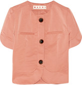 Marni Cropped cotton-blend faille jacket