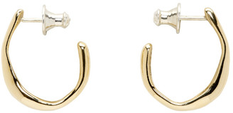 FARIS Gold Small Vero Hoop Earrings