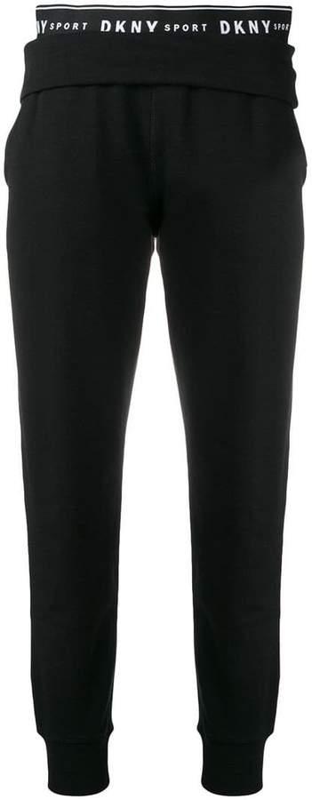 DKNY logo waistband track pants
