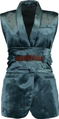 Brunello Cucinelli Crush Velvet Shawl Lapel Vest