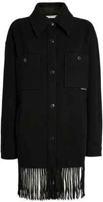 Alexander Wang Wool Fringed Overcoat