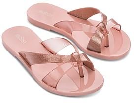 Melissa Women's Must Ad Bubble Gum Scented Thong Slide Sandals