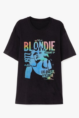 Nasty Gal Womens Blondie 1977 Graphic Band Tee - Black